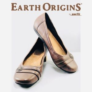 Earth Origins Shoes - Earth Origins by Earth    Leather Slip-On Flats